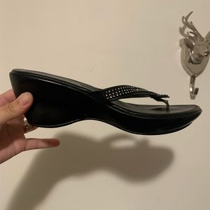 Athena Alexander Shoes - 🖤 Athena Alexander Rhinestone Wedge Sandal | 9